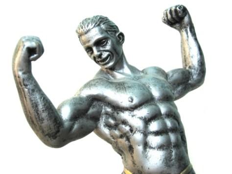 Happy statue