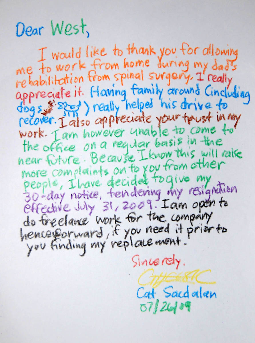 best resignation letter ever. Resume Example. Resume CV Cover Letter