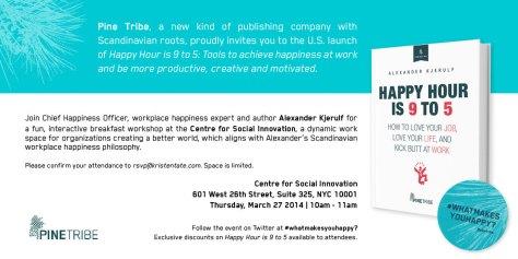 Happy Hour Book Launch Invite - CSI
