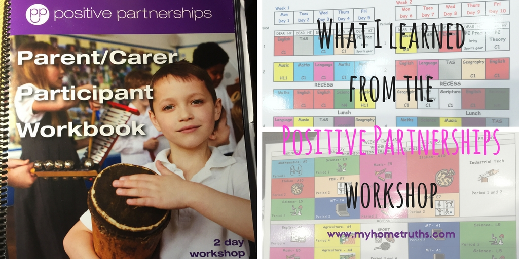 What I learned from the Positive Partnerships workshop
