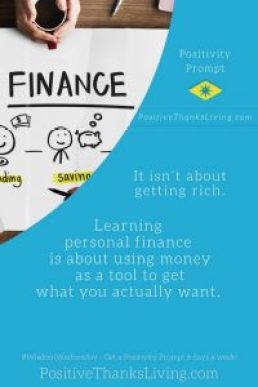 personal finance - using money as a tool - Positivity Prompt #finances