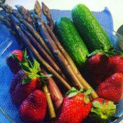Farmers Market haul - including purple asparagus