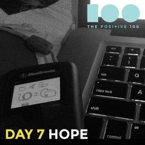 Hope | Robotic parts and a keyboard | Positive 100 from the Chronic Positivity Project