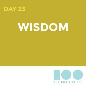 Day 23 : Wisdom   Positive 100   Chronic Positivity Project