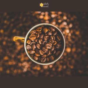 Top 20 cute coffee quotes! coffee beans in a mug image