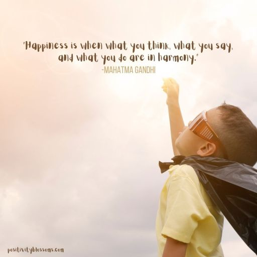 Gandhi quote Happiness is featured image