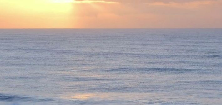 Confucius says: To practice five things under all circumstances quote ocean landscape