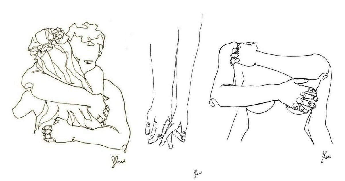 Couple  26 dessins purs sur lintimit et le rapport amoureux