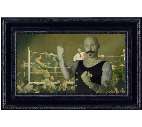 Tim Tate.Bellows In Black Frame