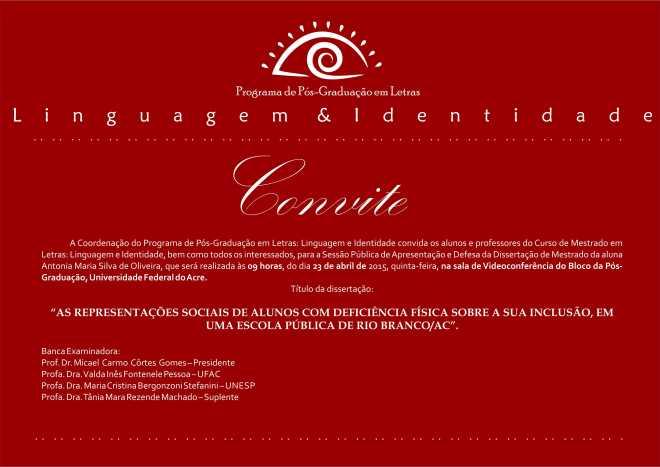 Convite Antonia Oliveira