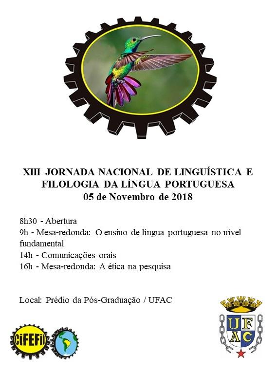 XIII Jornada de Linguística e Filologia
