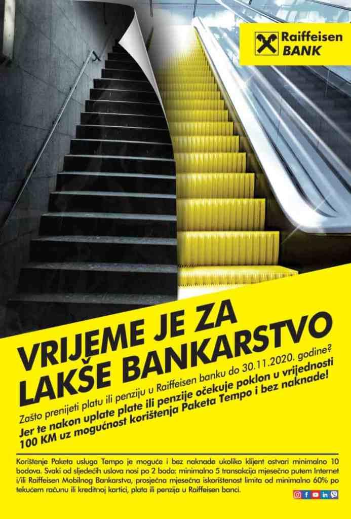 LAKŠE BANKARSTVO / Pogodnosti za nove i postojeće klijente Raiffeisen banke