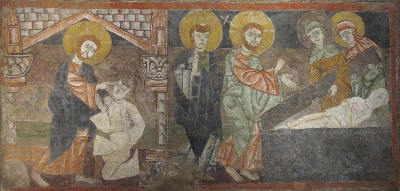 Jesus healing blind & raising Lazarus