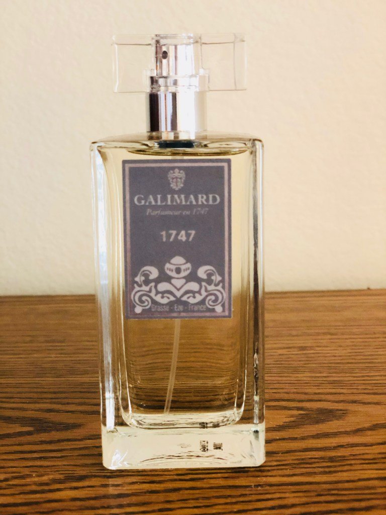 Keith had not used perfume in two decades because of the fibromyalgia. He bought some wonderful perfume at Galimard, and I have been so blessed by it.