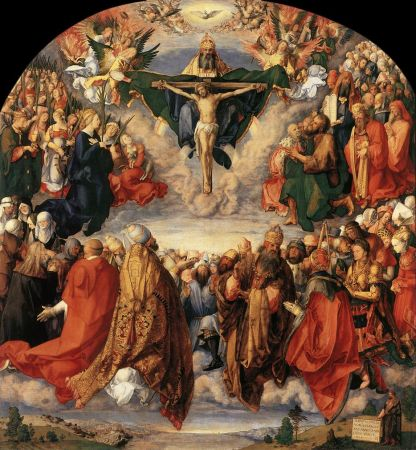 The Adoration of the Trinity by Albrecht Durer - 1511