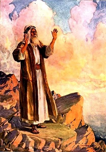 Moses Praying on the Mountain - by J Hartly 1922