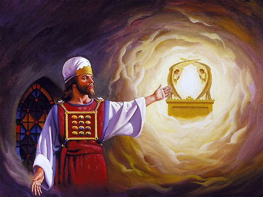 High Priest in the Most Holy Place before the Ark of the Covenant