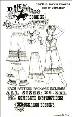 Women's Western clothes Patterns, by buckaroo bobbins