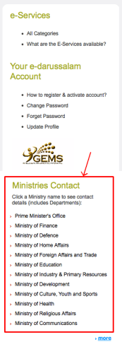 e-darussalam - Government tab -<br /><br /><br /><br /><br /> sidebar