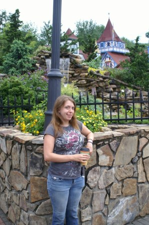 I was getting goofy by the time this picture was taken. Obviously, it's in Helen, GA.