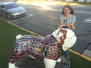 Me on one of the UGA mascots in Athens, GA