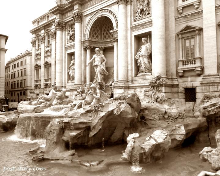 monumentos de roma: fontana di trevi