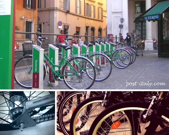 bicicletas em Roma
