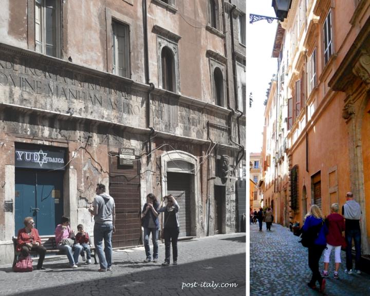 bairros de roma: gueto judaico