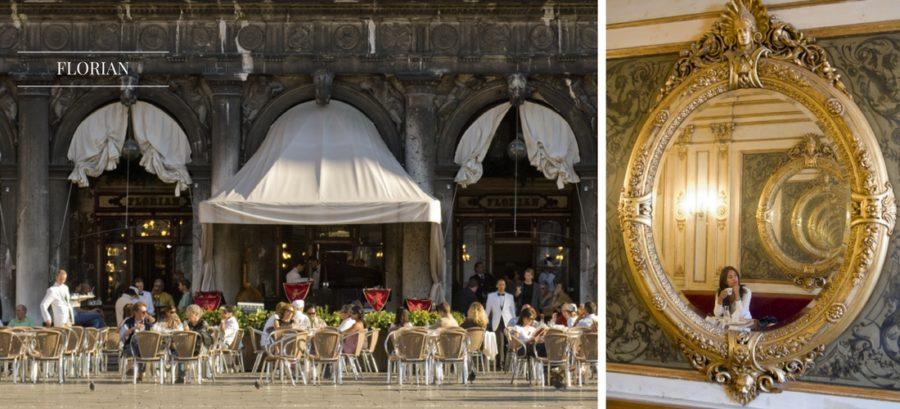 Florian, Veneza,Caffè Florian, Veneza O local dispensa apresentações. Inaugurado em 1720 e restaurado pela última vez em 2012, o Caffè Florian foi frequentado por personalidades como Goethe e Byron. Fica em uma das praças mais cenográficas do mundo e o seu interior é repleto de ambientes deslumbrantes como a Sala das Estações ou aquela dedicada a venezianos famosos como Marco Polo ou o pintor Tiziano. Caffè Florian: Piazza San Marco, 57 (Veneza)
