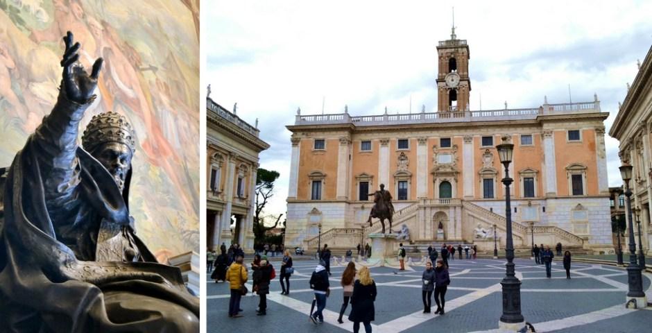 Museus Capitólios em Roma, Itália