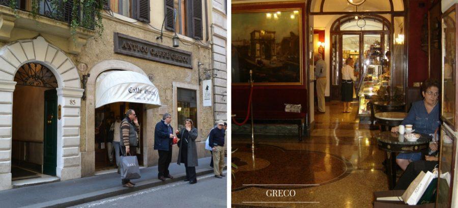 Antigo Caffè Greco em Roma