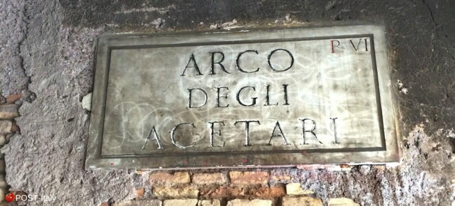 Arco degli Acetari em Roma, Campo de Fiori