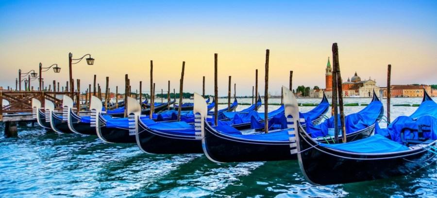 gôndolas de Veneza, Itália