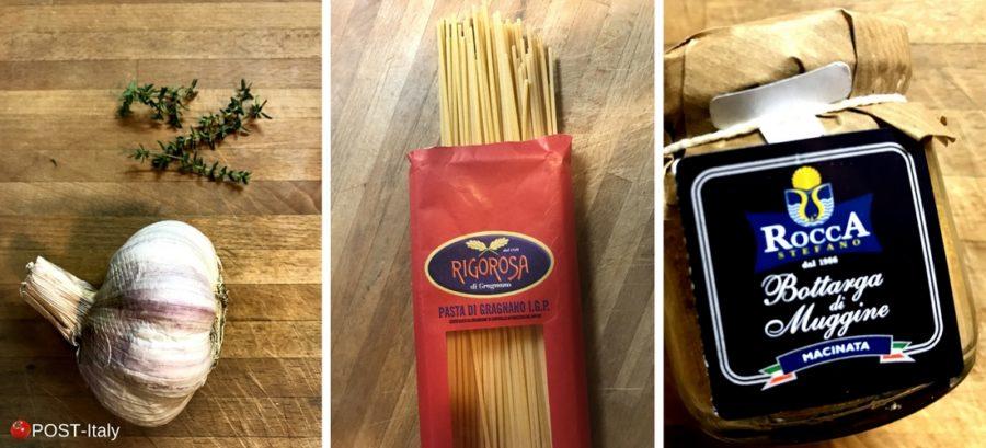 receita italiana: spaghetti con bottarga