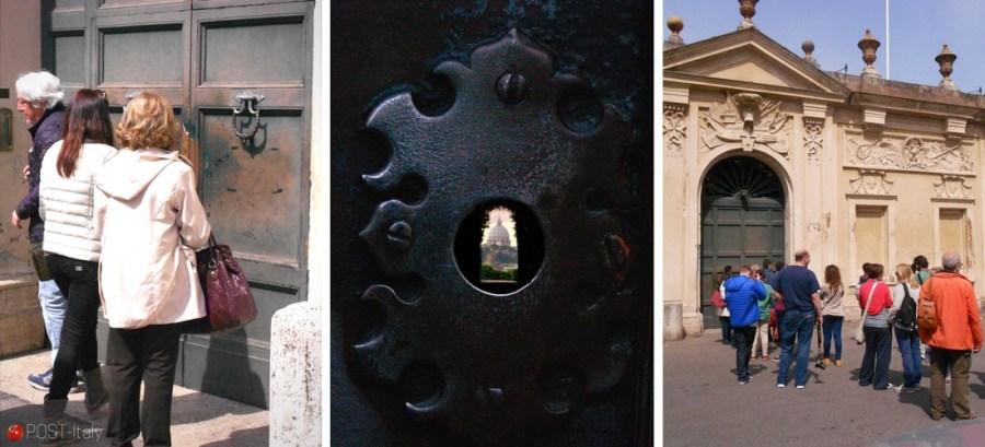 buraco da fechadura em Roma, Itália
