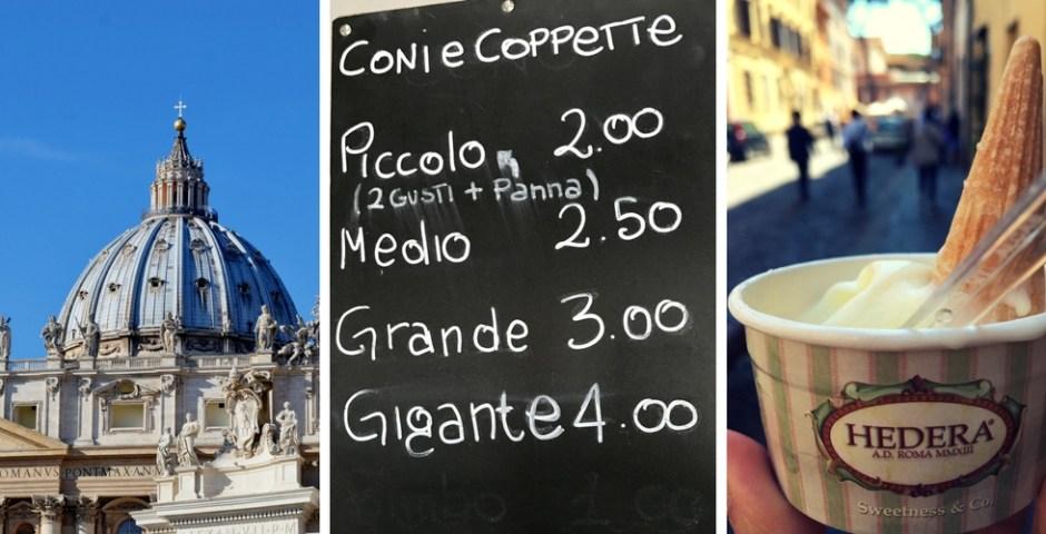 sorveterias em Roma