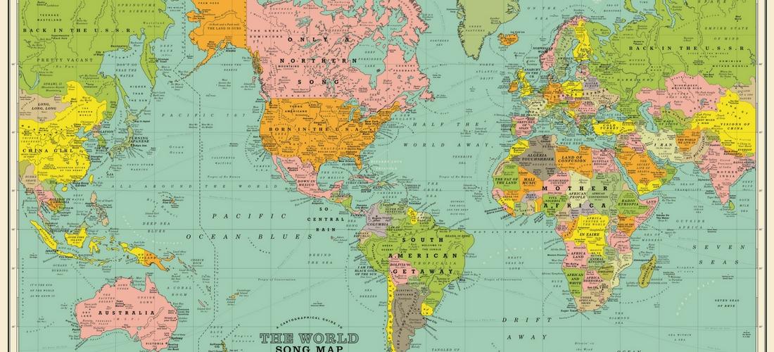 O Mapa Mundi Identificado Com Cancoes