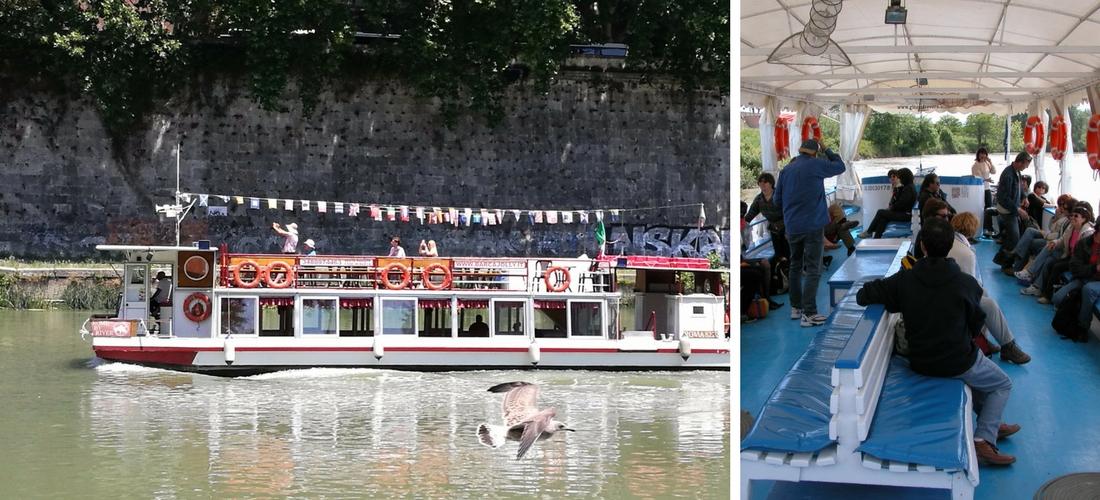 Conhecer Roma navegando pelo rio Tibre