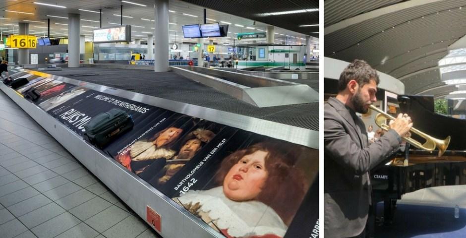 aeroportos Fiumicino e Schiphol