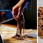 receita tagliatelle al cacao