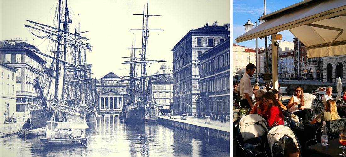 Canal Grande em Trieste, o ponto mais badalado da cidade amada por James Joyce