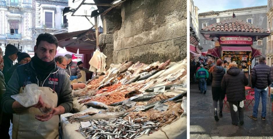 mercado de peixes em Catânia, Sicília