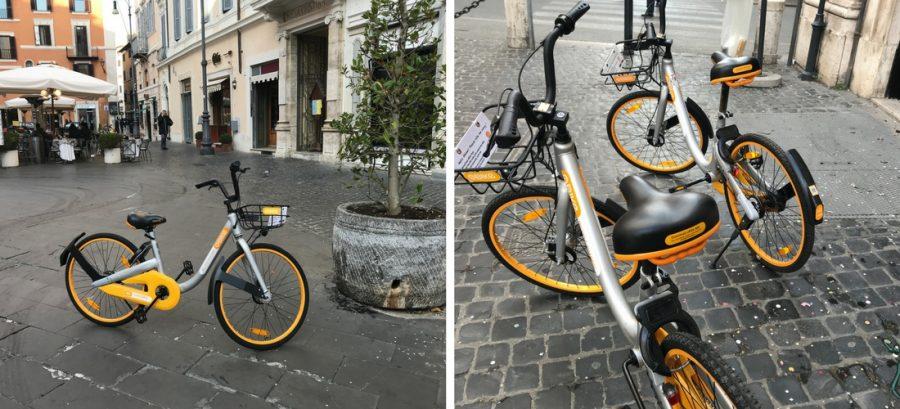 Aluguel de bikes em Roma