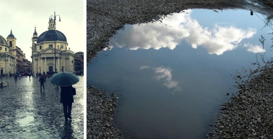 Passeios em um dia de chuva em Roma