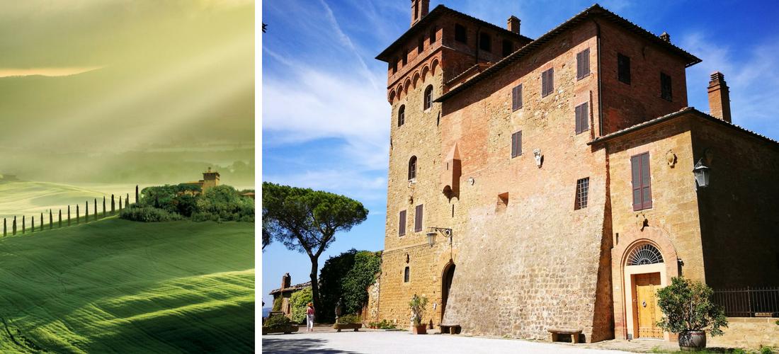 Palazzo Massaini em Pienza: onde nascem vinhos e os cosméticos Bottega Verde