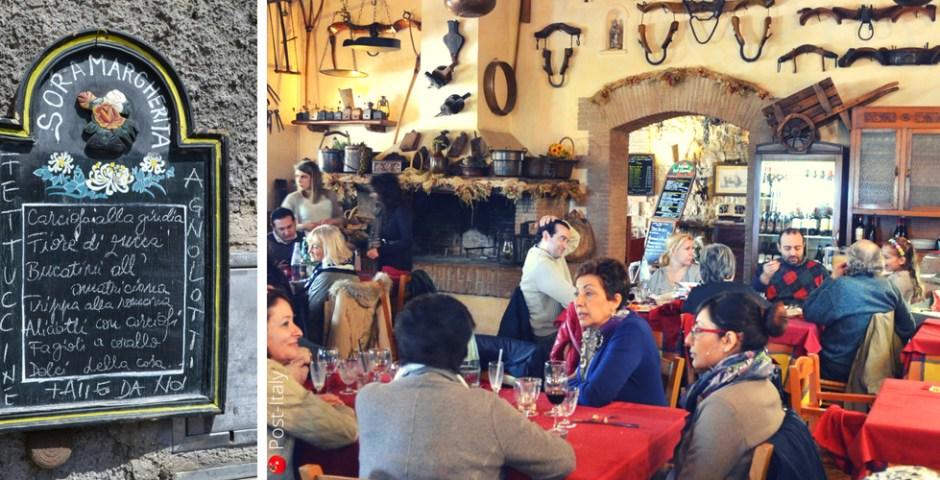 onde comer bem em Roma, Itália