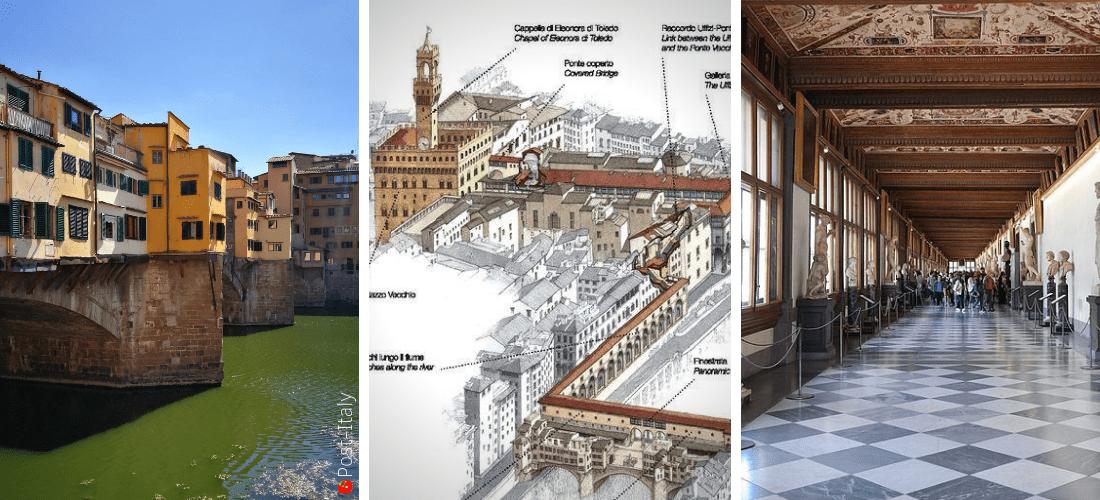 """Ponte Vecchio em Florença e o """"novo"""" Corredor Vasariano"""