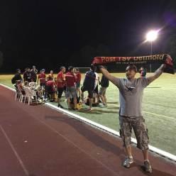 Fans und Mannschaft Post TSV Detmold Westfalenpokalsieg gegen RW Ahlen