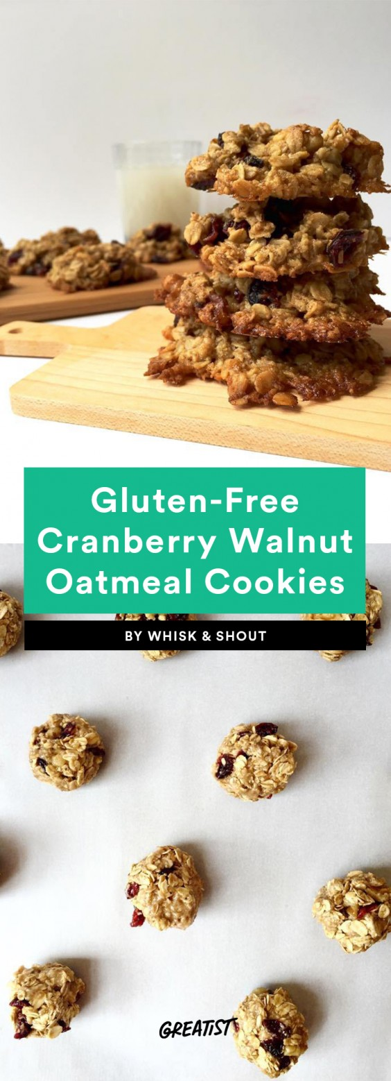 Gluten-Free Walnut Cranberry Oatmeal Cookies