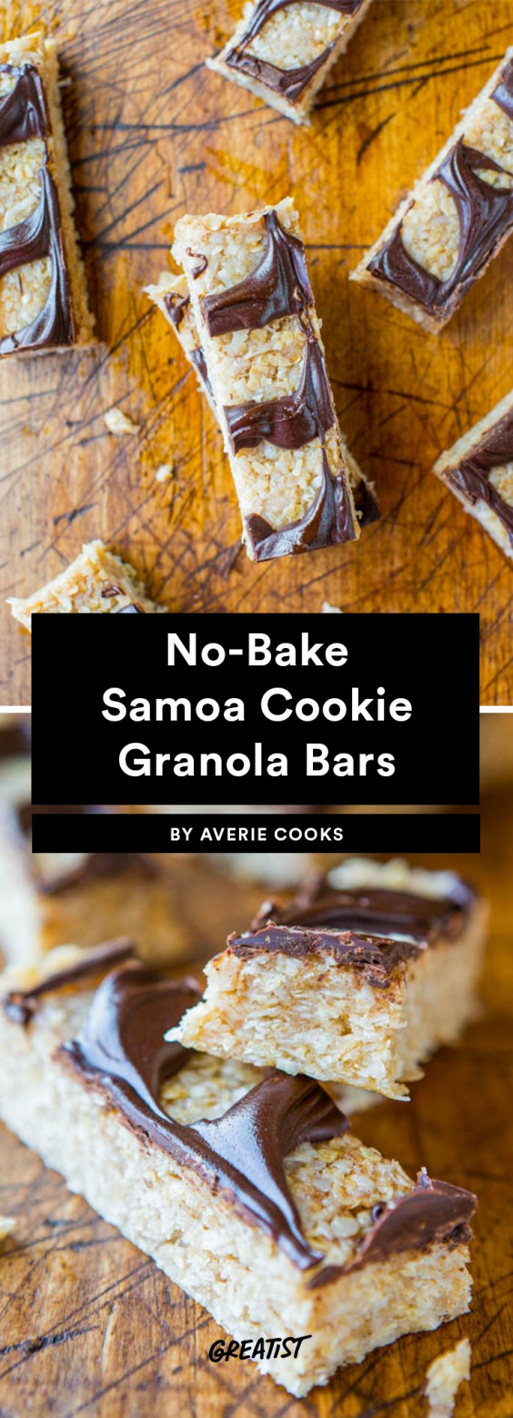 No-Bake Samoas Cookie Granola Bars